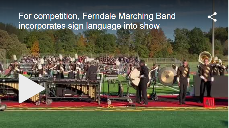 High School Marching Band Incorporates Sign Language Into Show