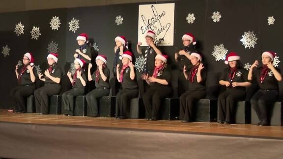 Deaf, Blind Students Spread Christmas Cheer With Silent Performance